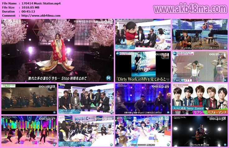 音楽番組170414 欅坂46 Part  Music Station