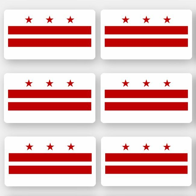 Flag Of Washington Dc American State Flag Sticker Zazzle Com In 2020 American State Flags State Flags Design Your Own Stickers