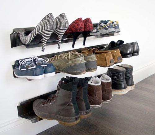 Kết quả hình ảnh cho Hallway wall to store shoes