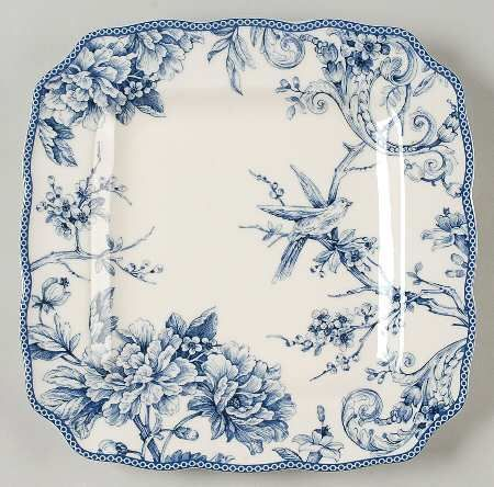 Blue & White plate Source: Replacements Ltd.