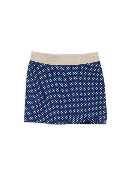 Charlie&me - - knit tube skirt - W6CG70003 - french blue - 2 to 10