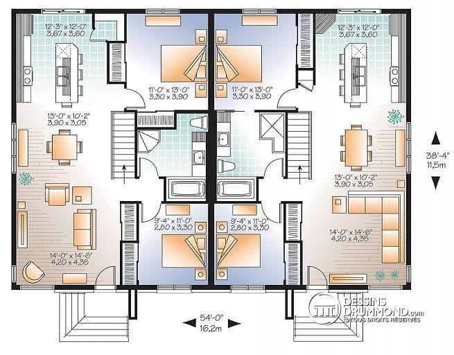 13 best construction images on Pinterest Airplanes, Architecture - plan de maison de 100m2 plein pied