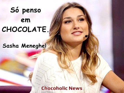 """Mensagem Chocolate no Pensamento https://chocoholicnews.blogspot.com.br/2017/08/mensagem-chocolate-no-pensamento.html Aos 19 anos de idade, a filha de Xuxa, Sasha Meneghel, não tira o chocolate do pensamento, para  manter a boa forma, ela faz regime; confira a mensagem! """"Só penso em CHOCOLATE."""" - Sasha Meneghel #ChocolatenoPensamento #Mensagem #SashaMeneghel #Chocolate #Frase #Xuxa"""
