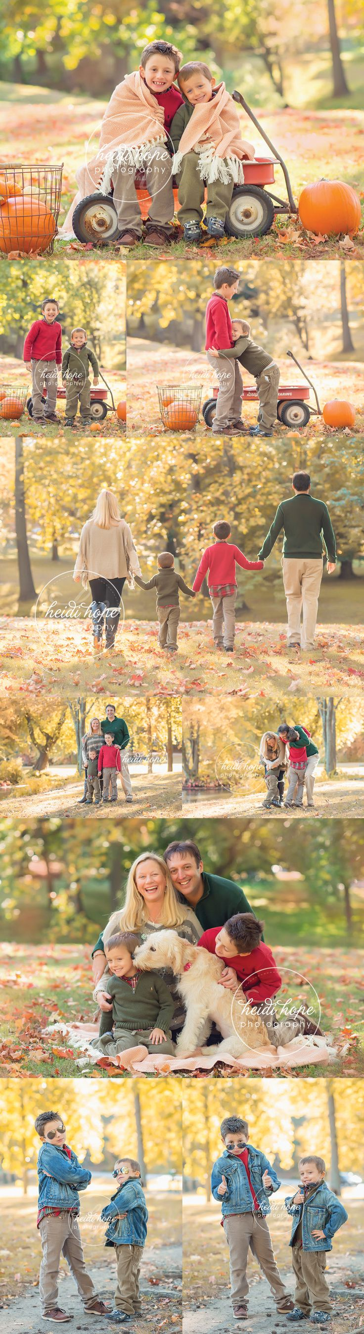 The N Family in the fall foliage! | Heidi Hope Photography