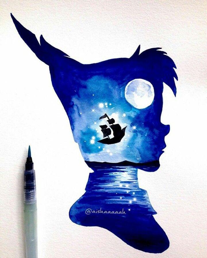 Peter Pan beautiful art Take me yo Neverland🌙⚓️🗺