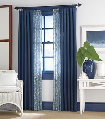 Think About Using A Similar Idea In Master Bedroom. Print Sheers And Plain  Panels