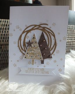 Magical Scrapworld. a merry little wish, Stampin Up!, cards, christmas, festival of trees, swirly bird