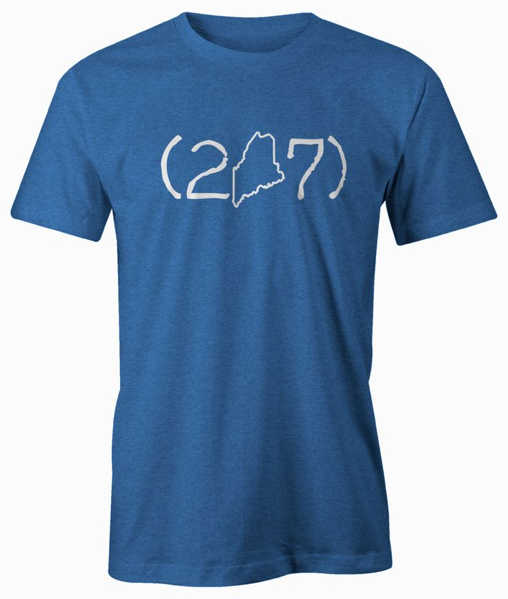 Maine (207) Area Code Shirt - Unisex/Men's (207) Area Code American Apparel T-shirt. by BeardedDogPrintsLLC on Etsy