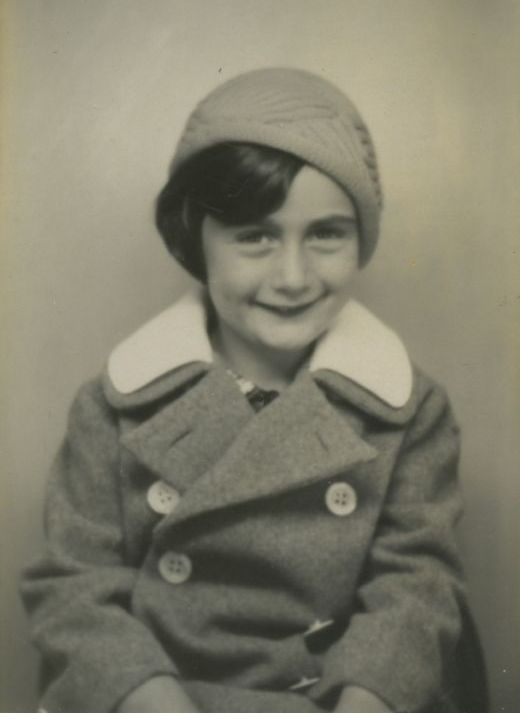 a very young Anne Frank