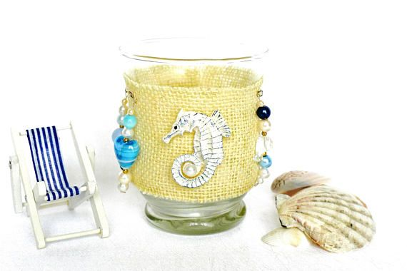 Gut Tealight Holder, Sea Decor, Beach Theme Lantern, Seahorse Decor, Candle  Holder, Seahorse Gift, Beach Wedding Favor, Birthday Gift For Her