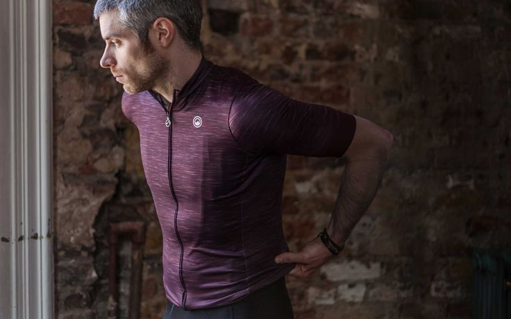 Claret Men Jersey - Short Sleeve Cycling Jersey by Milltag