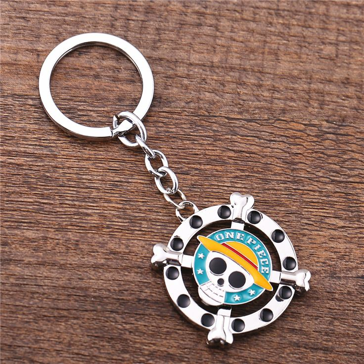 One Piece Skeleton Skull Pattern Silver Zinc Alloy Keychain Key Ring //Price: $7.00 & FREE Shipping //     #onepieceluffy #onepiecefigure #dluffystore