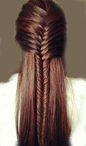 Waterfall fishtail braid! :: Summer Hairstyles:: Fishtail Braid:: Half up waterfall braid