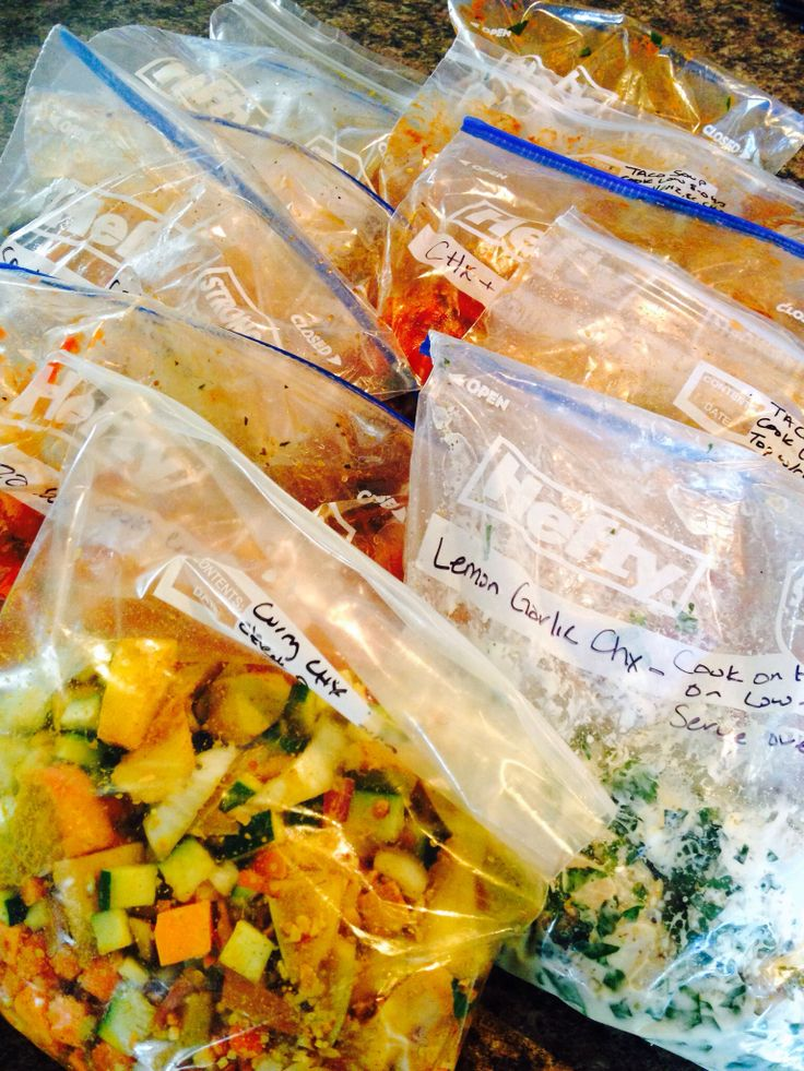 I just completed the ultimate in Pinterest recipes.. 11 prepped crock pot freezer bag dinners!! The blogger made 15 but that seemed ambitious. It took me 2.5 hrs to chop and bag these but I'm sure it won't take as long once I know what I'm doing. I spent $95 which ends up being approx $8.75 for 2ppl to eat dinner for 11 nights. Also, the blogger suggest omitting pasta and rice so these dishes will be gluten free but I substituted gluten free quinoa and/or pasta.