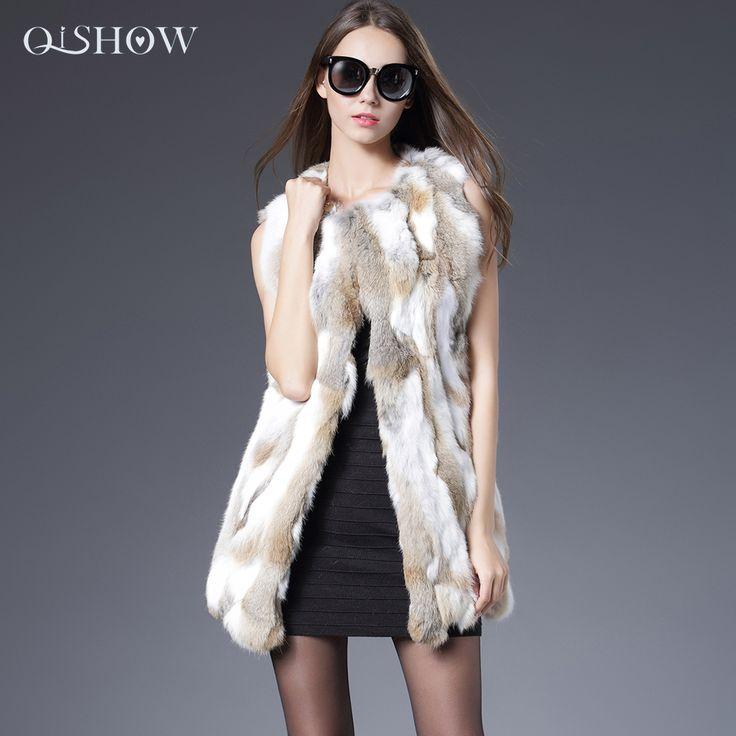 Sexy Fur Vest Phụ Nữ Lông Thỏ Vest Bất Fur Coats Đối Với phụ nữ Đông Mùa Thu Thương Hiệu Bán Lông Vest Coat Fashion Outwear Cao chất lượng