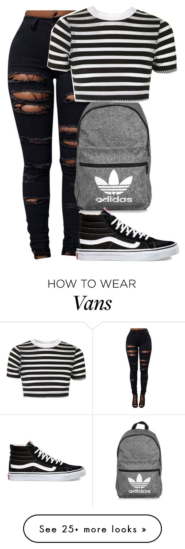 """Untitled #154"" by newyorkbae on Polyvore featuring adidas, Topshop and Vans"