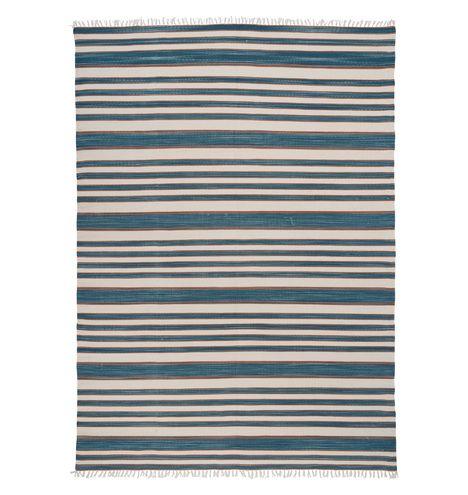 Striped Cotton Flatweave Rug 8' x 10' E2328