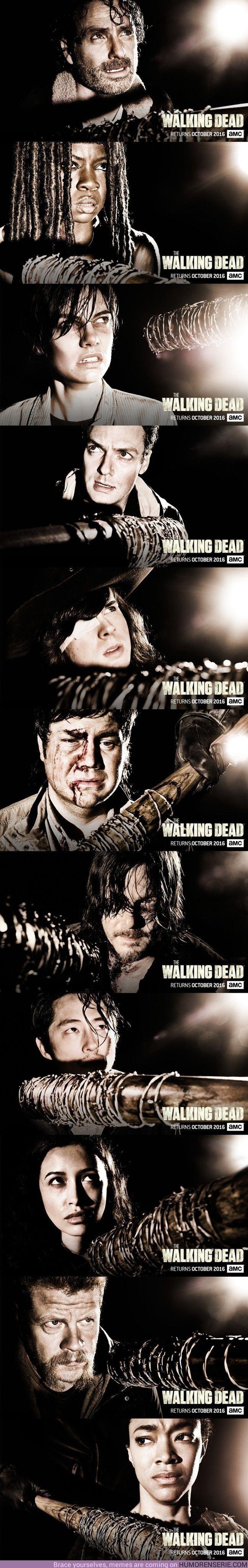 3346 - Los nuevos pósters de la próxima temporada de The Walking Dead son…