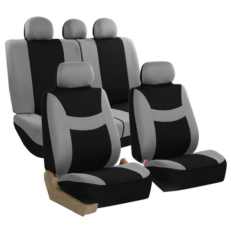 FH Group Grey & Light & Breezy Fabric Auto Seat Covers