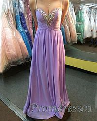 #promdress01 prom dresses, 2015 cute lavender chiffon straps beaded handmade long prom dress for teens, ball gown, occasion dress for #prom2k15 #promdress -> www.promdress01.c... #coniefox