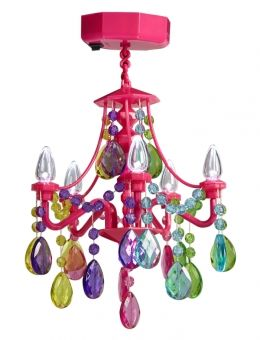 Rainbow Locker Chandelier so cute from justice