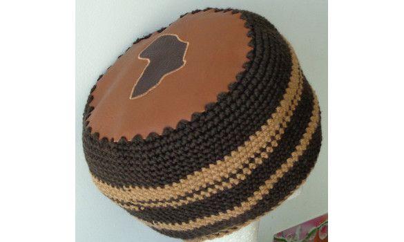 Chapeau rasta dessus cuir / tour en fil mérinos -  Volume de dreads taille M  EN VENTE SUR : www.maidmarioncreation.com