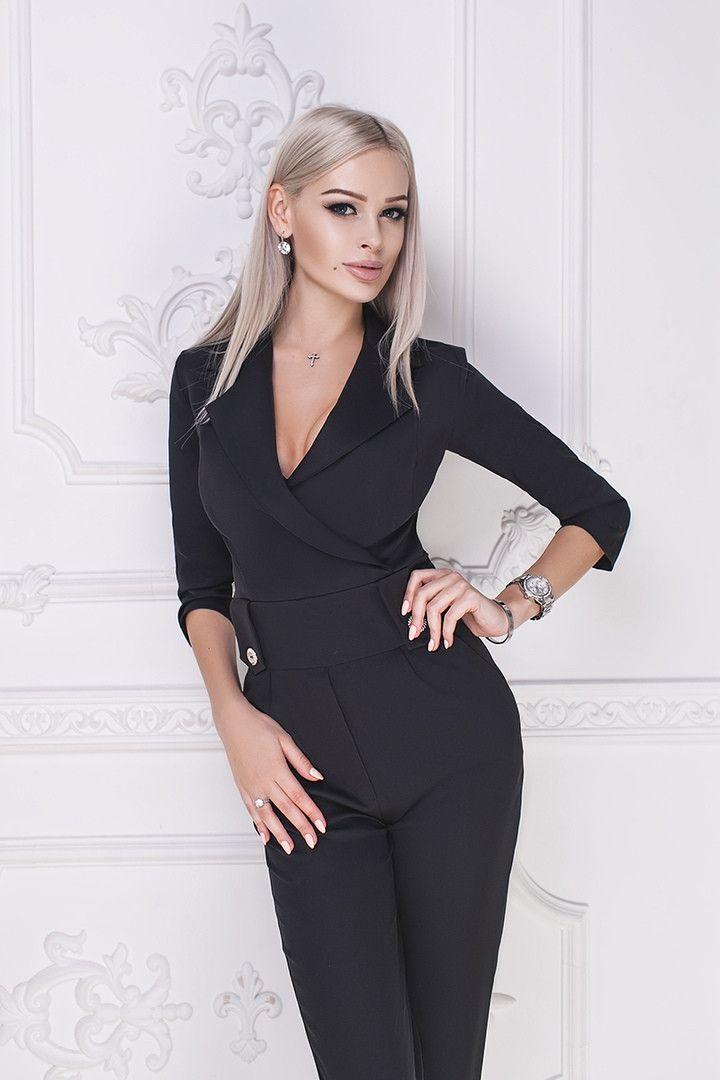 22f407af230 Женский стильный облегающий комбинезон с карманами - Интернет-магазин