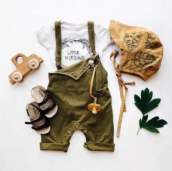 Baby/Toddler Olive Overall Romper 1