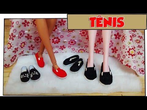 Como fazer: Tênis sem cadarço para bonecas Barbie, Monster High, Baby Alive, E.A.H entre outras! - YouTube