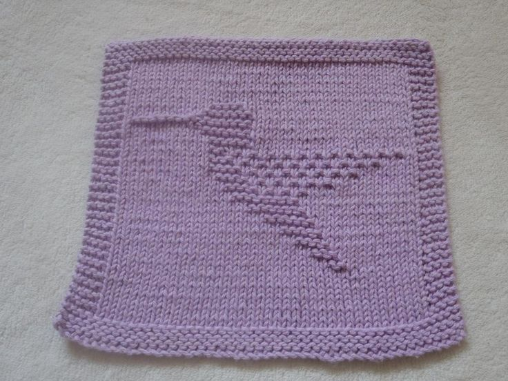 Hummingbird Dishcloth pattern on Craftsy.com