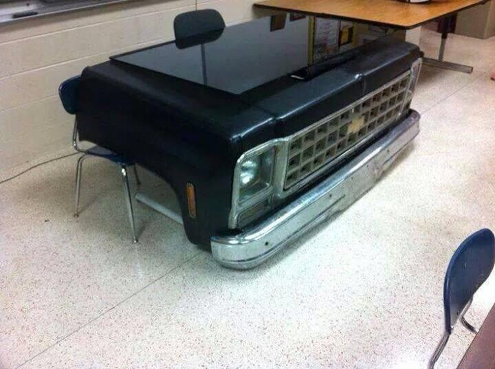 A Cool Desk For A Man 39 76 C10 Chevy Front Clip Because I 39 M A Man Pinterest Chevy
