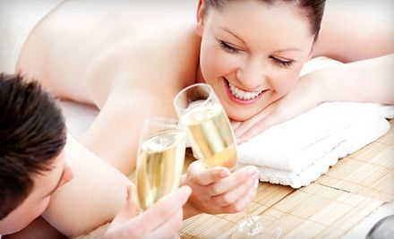 Groupon - $ 99 for a Romantic Couples Spa Package with Massage and Champagne at Balance & Change Massage & Bodywork ($ 199 Value). Groupon deal price: $99.00