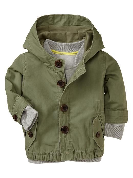 Baby Gap trench from boy dept. 10-clothing-items-for-baby-girls-from-the-boys-department