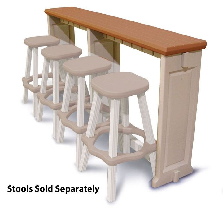 Resin Patio U0026 Breakfast Bar And Stool Set In Redwood