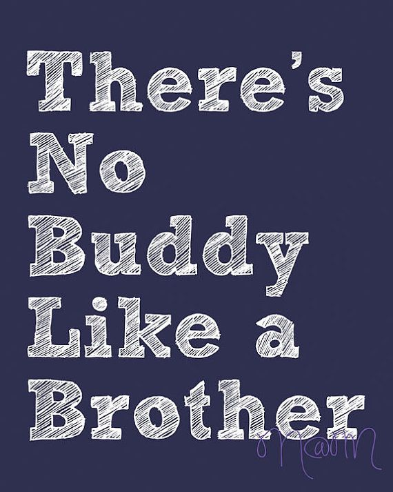 There's No Buddy Like a Brother Printable Wall Art on Etsy, $6.13