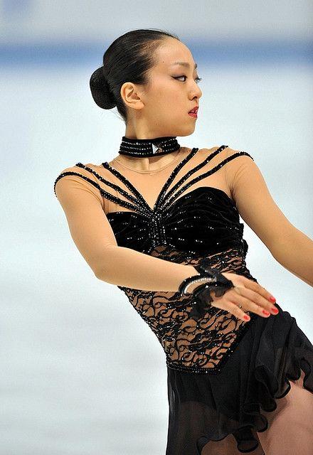 Mao Asada, Black Figure Skating / Ice Skating dress inspiration for Sk8 Gr8 Designs.