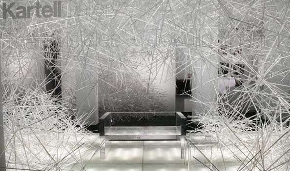 2010 Snowflake Installation for Kartell Gallery by ©Tokujin Yoshioka www.bullesconcept.com