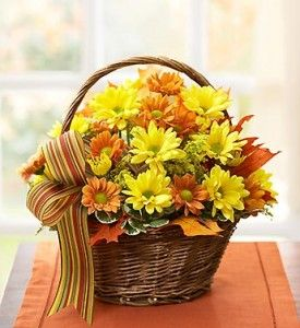 Fall Daisy Basket -by Flowers For Canada