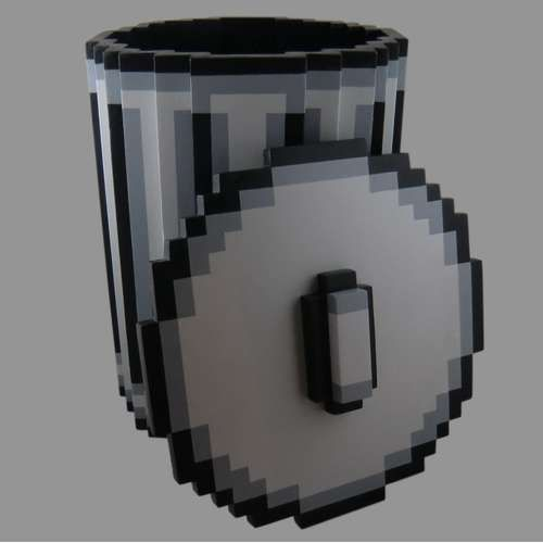 windows 95 trash -  via http://www.instructables.com/id/Pixel-Trash-Can/