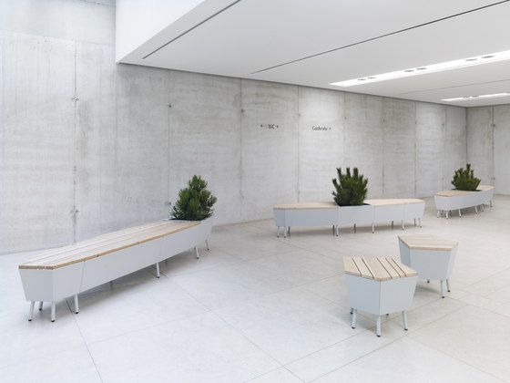 Waiting area benches | Lounge area-Waiting room | Elevation. Check it out on Architonic