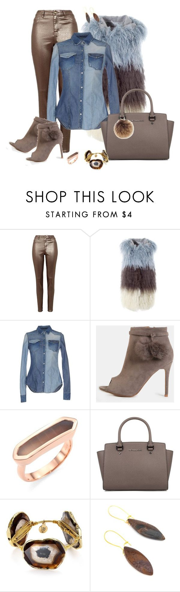 """Pompom Ankle Boots"" by hope-houston on Polyvore featuring MATE the Label, 2W2M, Monica Vinader, Bourbon and Boweties, Salome and Rebecca Minkoff"