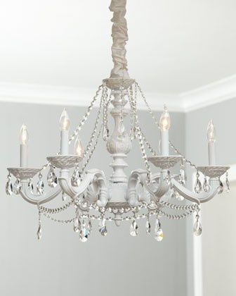 spray paint any ugly chandelier and add crystals galore love shelley. Black Bedroom Furniture Sets. Home Design Ideas