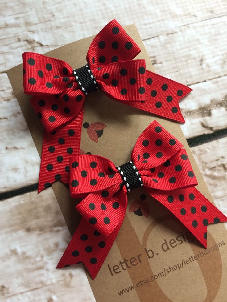 Lady Bug Red with Black Polka Dot Hair Bow Set on Partially Lined Alligator Clip by letterbdesigns on Etsy https://www.etsy.com/listing/235425754/lady-bug-red-with-black-polka-dot-hair