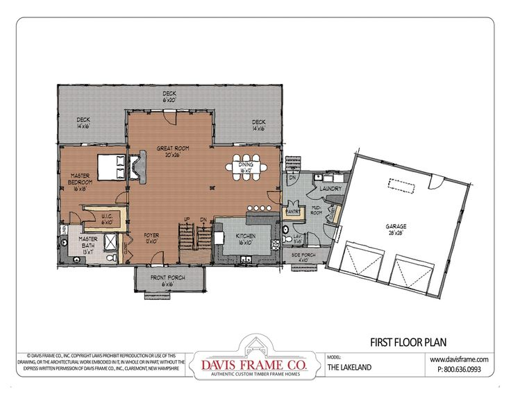 Cross gable open concept floor plan i like the laundry Rest house plan