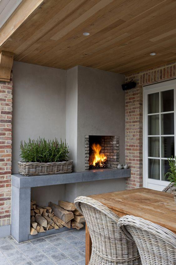 25 beste idee n over veranda open haard op pinterest for Weekendje weg huisje open haard