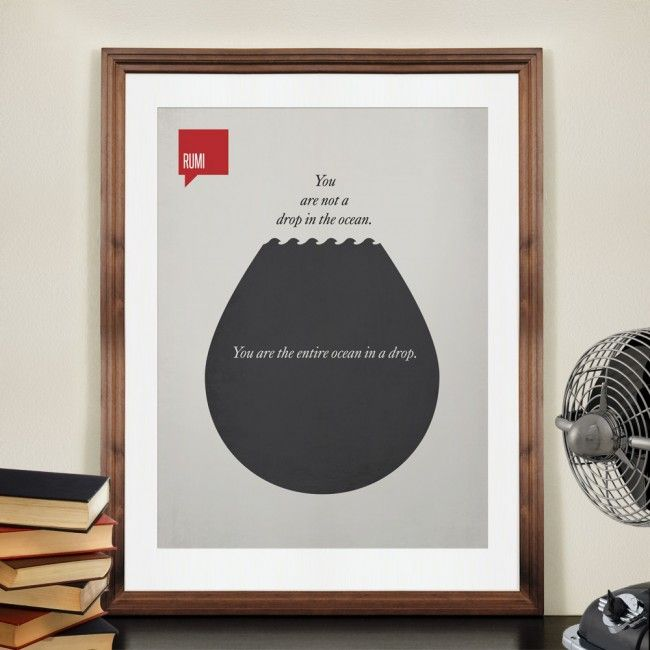 Famous quotes on minimalistic posters wall to watch