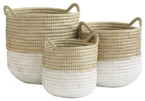 In many societies across the world, barrel baskets were dipped in a paint-like solution in order to keep them watertight.