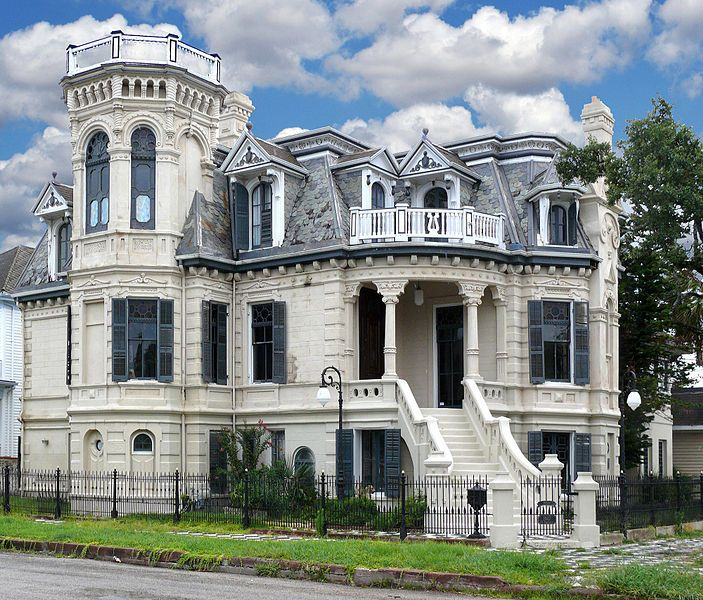 Trube Castle, Galveston, Texas. This Danish castle-inspired home was built in 1890 by John Clement Trube, who came in his youth from Kiel, Denmark. His architect was Alfred Muller.
