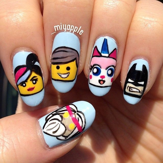 1000+ images about Lego nails on Pinterest