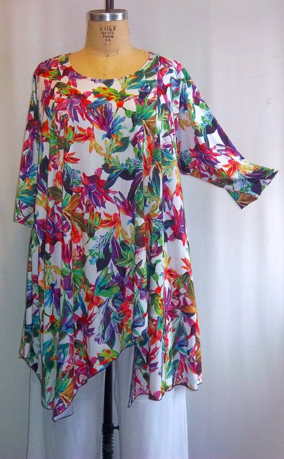Coco and Juan Plus Size Asymmetric Tunic Top by COCOandJUAN, $36.00 love this pattern and colors!